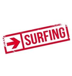 Surfing stamp rubber grunge vector