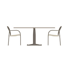 Table chair two flat icon isolated restaurant vector
