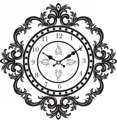 Vintage Classic clock vector image