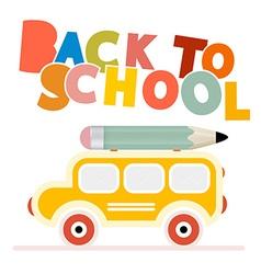 Yellow school bus - back to school vector