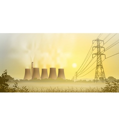 Electricity Plant vector image
