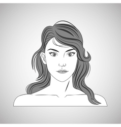 Woman and hair style design vector