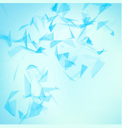 abstract blue mesh background vector image