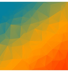 Abstract rainbow triangle background vector image