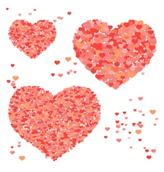 Set of valentines day hearts vector image