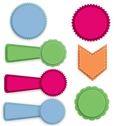 Badges and banners vector