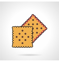 Biscuits flat icon vector