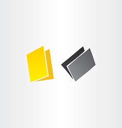 Yellow and black folders icons design vector