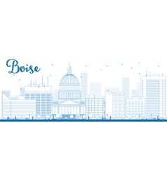 Outline boise skyline vector