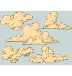 vintage clouds vector image