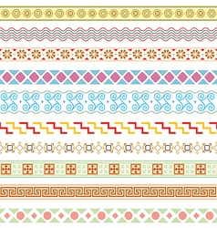 Old greek border designs vector