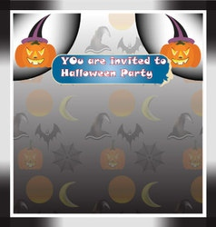 Halloween invitation card background vector