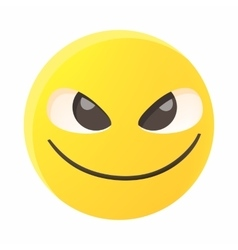 Threatening emoticon icon cartoon style vector