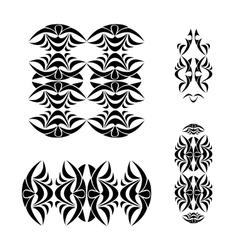 Tribal ornament set vector