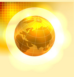Gold Earth background vector image