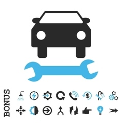 Car repair flat icon with bonus vector