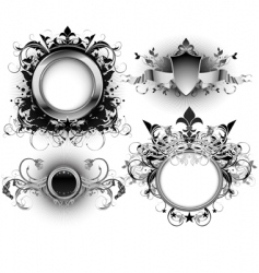 ornate shields vector image