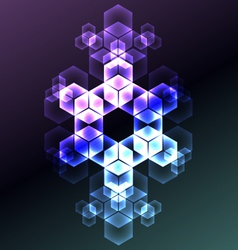 Abstract snowflake decorative background vector image vector image