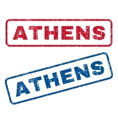 Athens rubber stamps vector