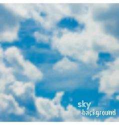 background with blue sky and clouds vector image