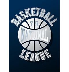 Basketball national league on a navy blue vector