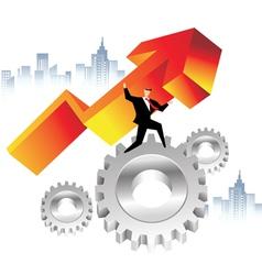 business economics vector image vector image