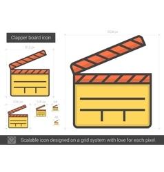 Clapper board line icon vector