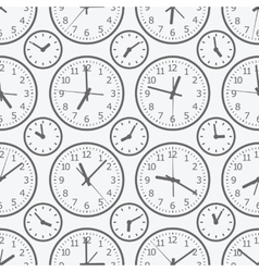 Clock seamless pattern the electronic device vector