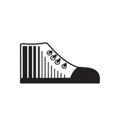 Flat icon in black and white gumshoes vector
