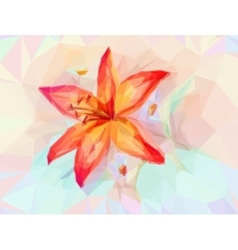 Floral Pattern with Lily vector image vector image