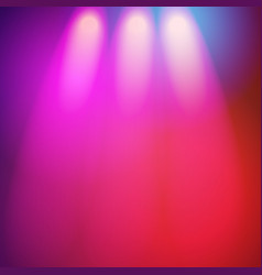 Glowing nightclub lights spotlights background vector