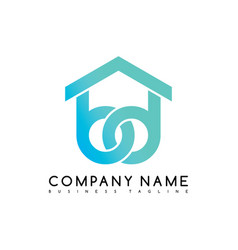 House care emblem blue knot symbol curve looped vector