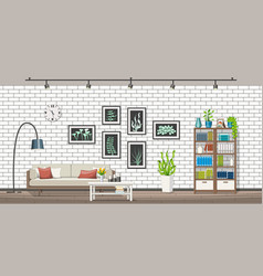 interior equipment of a modern living room vector image vector image