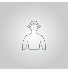Man with broad-brim vector
