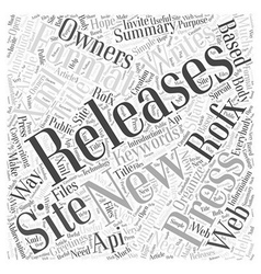 New way in the press releases writing word cloud vector