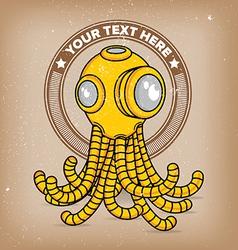 Octopus scuba robot logo vector