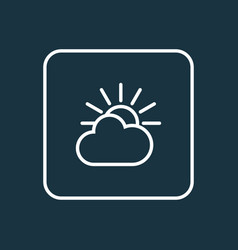 overcast outline symbol premium quality isolated vector image