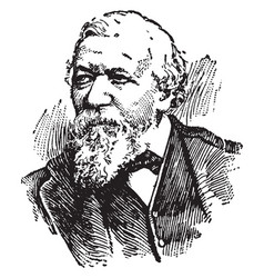 robert browning vintage vector image vector image