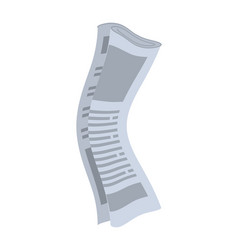 Roll of newspapers isolated rolled of vector