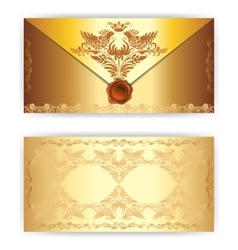 royal gold greeting card vector image