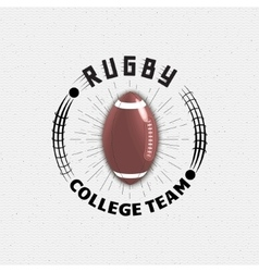 Rugby badges logos and labels for any use vector image