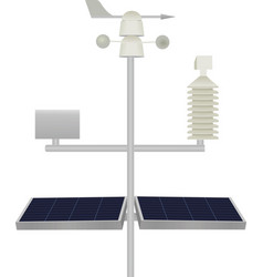 scientific weather station with solar panels vector image
