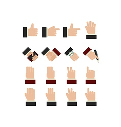 Set of hands icons vector