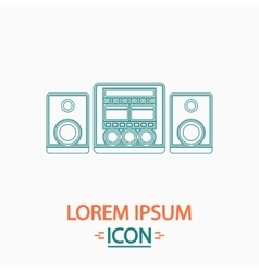 Sound system computer symbol vector