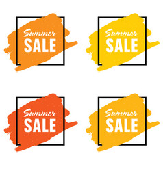 summer sale icon set vector image