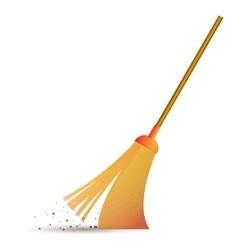 Sweeping broom icon vector image vector image