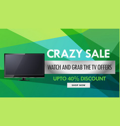Television and electronics sale and discount vector