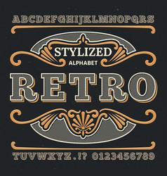 vintage western 3d typography gothic retro vector image