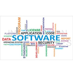 word cloud software vector image vector image
