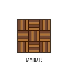 Flat icon of laminate finishing materials floor vector